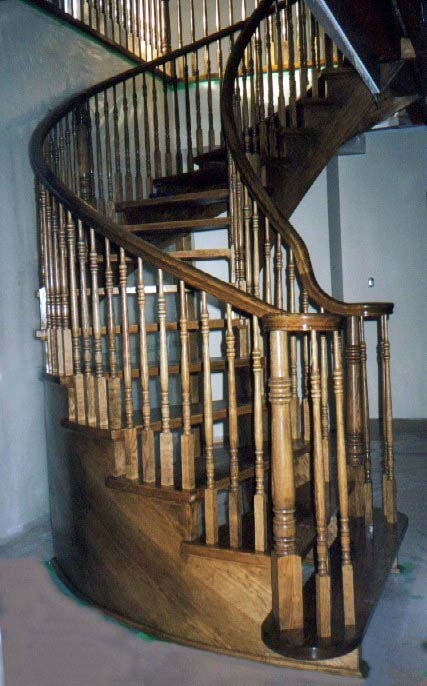 Curved Oak Custom Stairs