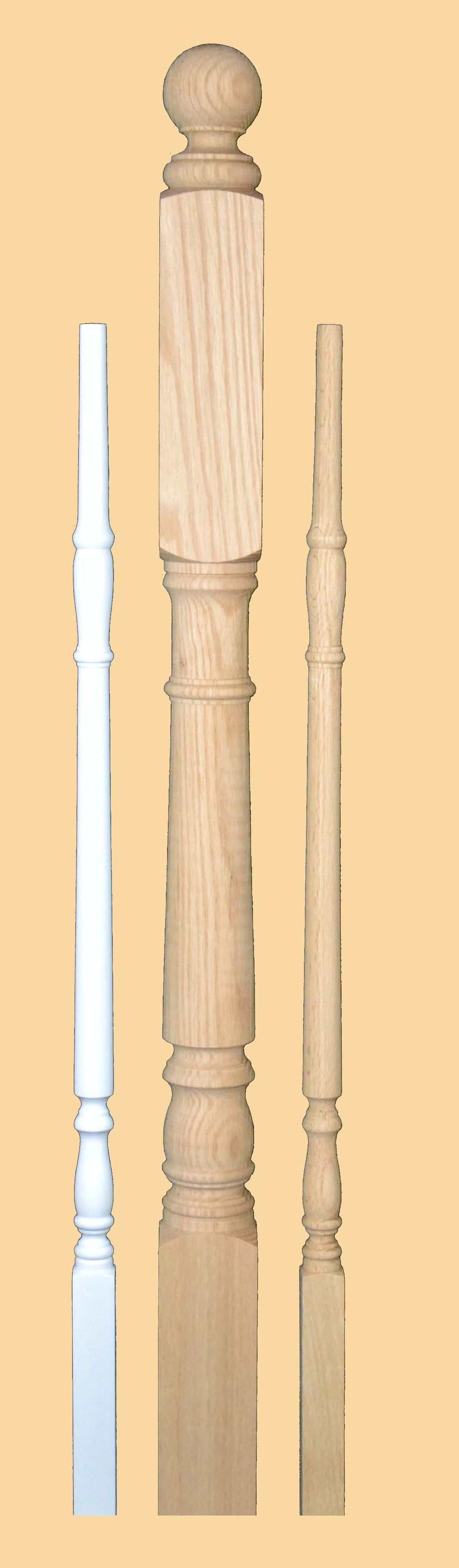 Elgin Pre-Primed White, Hardwood Newel & Baluster