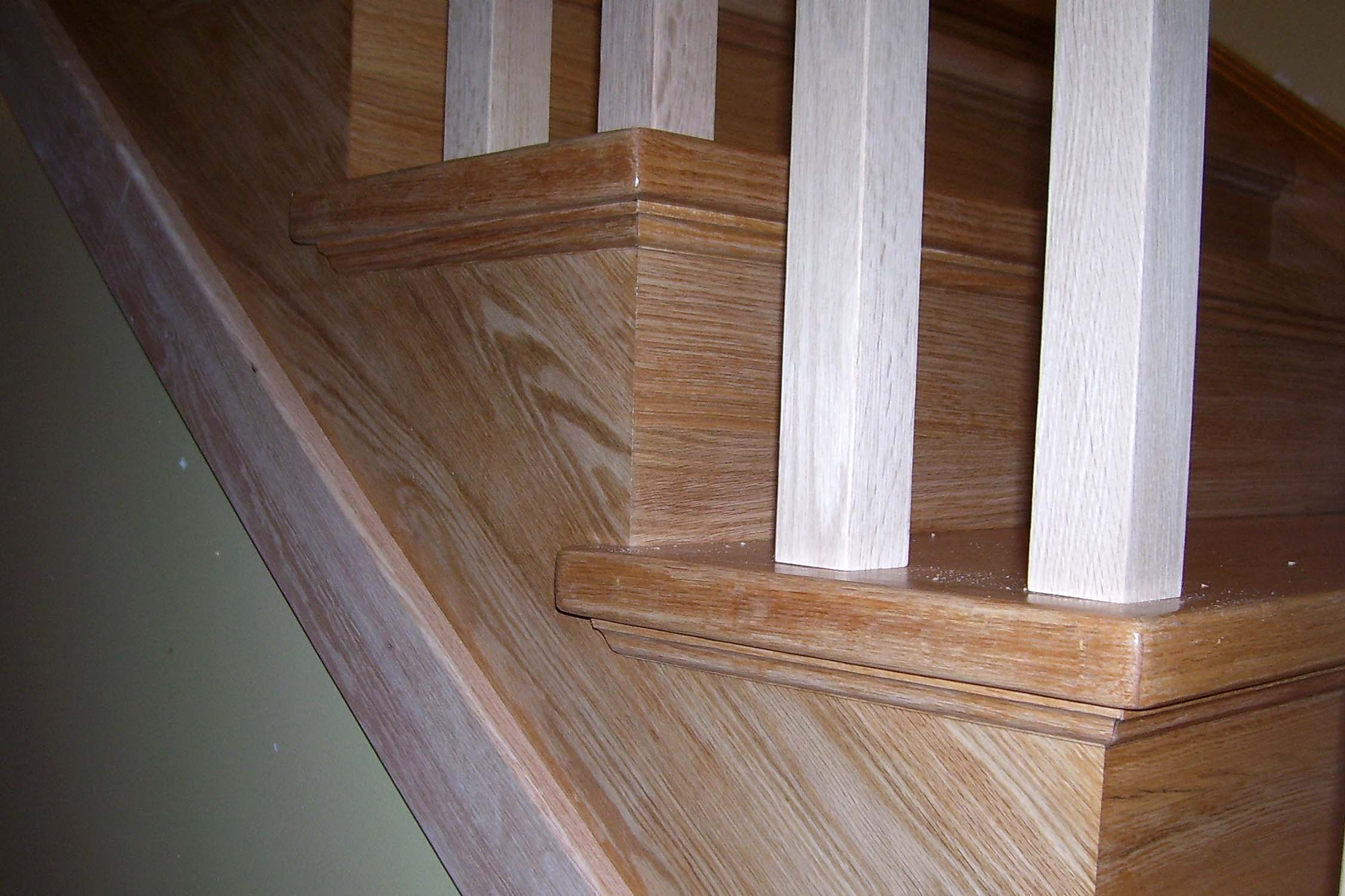 Open Cut Stinger Custom Wood Stairs