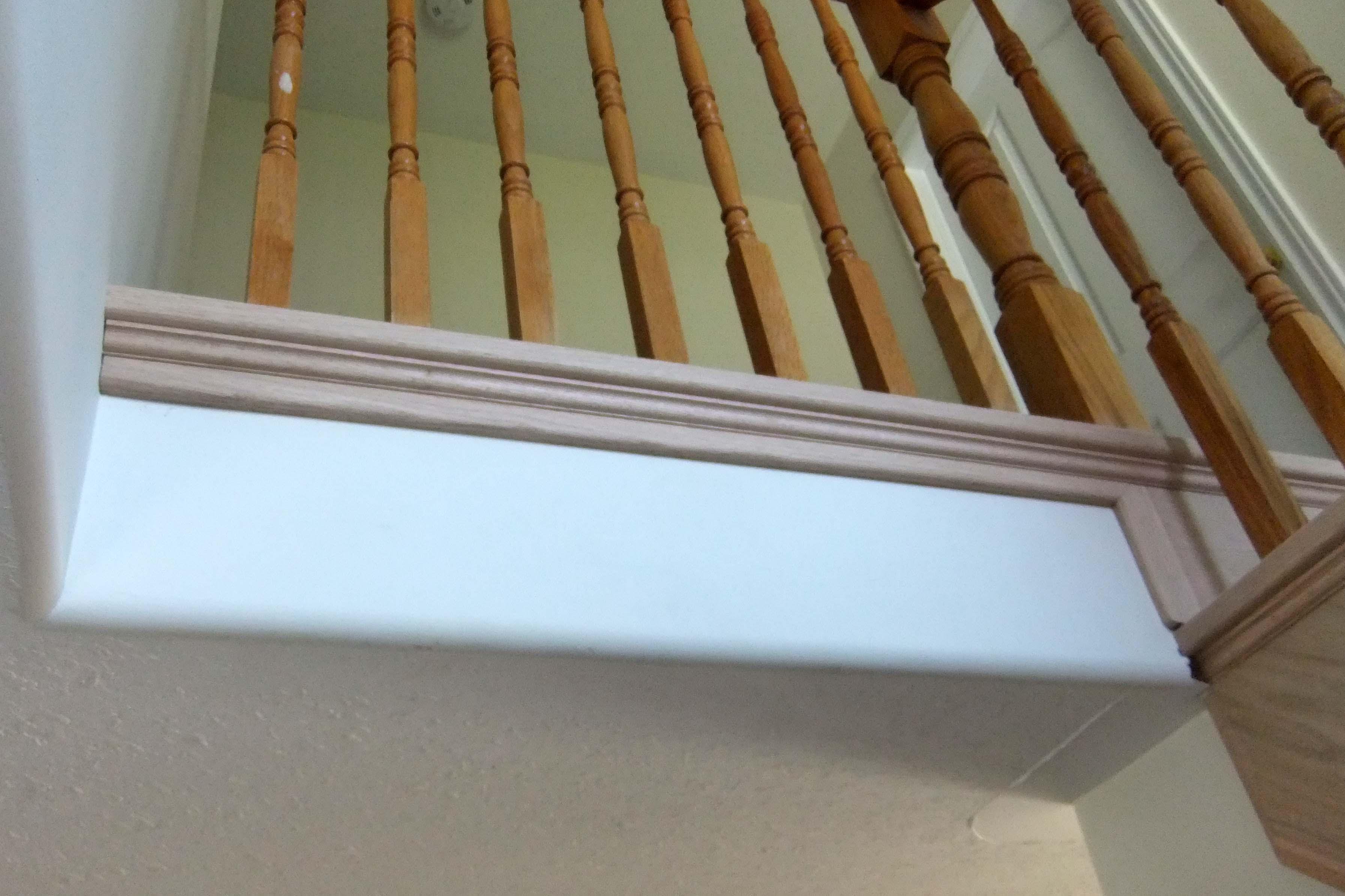 Nosing next to drywall