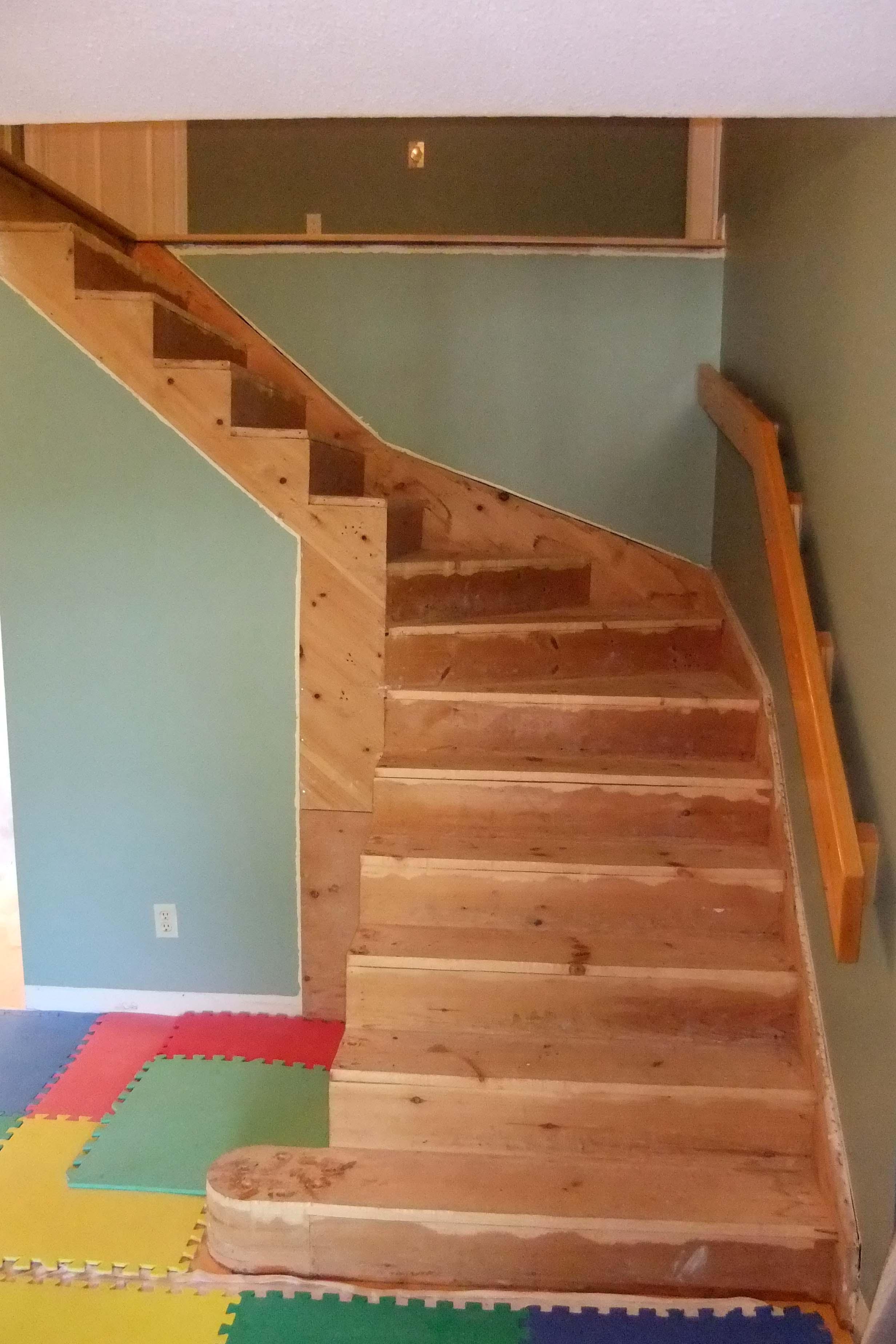 Stair Resurfacing Before