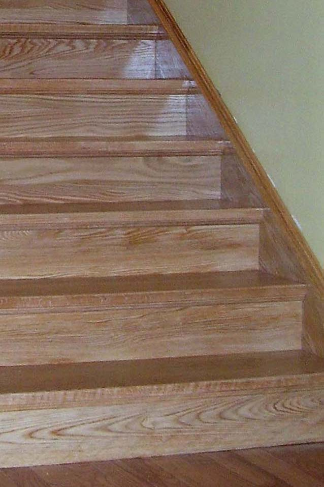 Closed Stringer Custom Wood Stairs